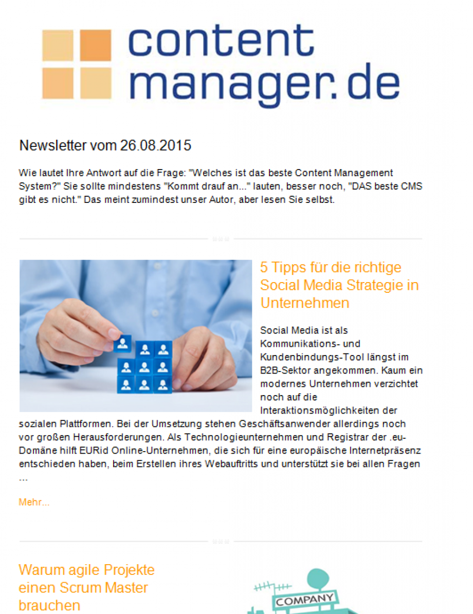 Contentmanager NL SCreen
